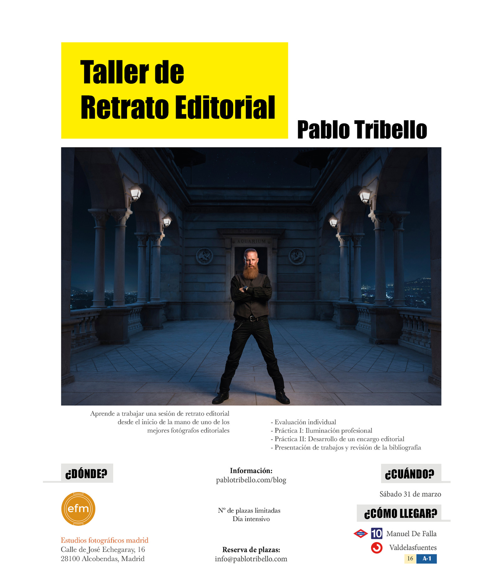Taller de retrato editorial madrid